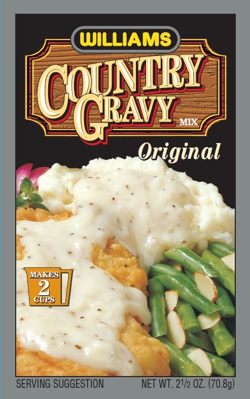 Williams Country Gravy-Front Panel300
