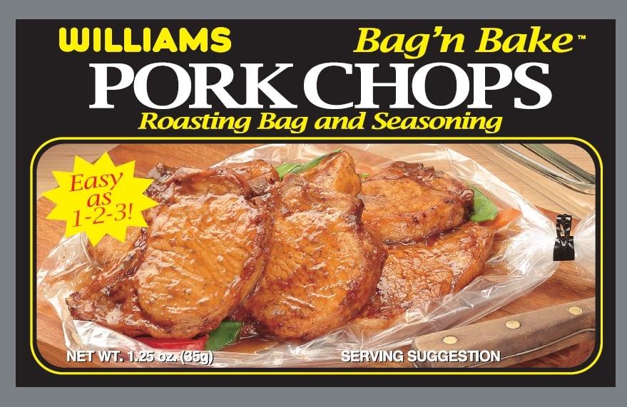 Williams Pork Chop Bag'n Bake-Front Panel300