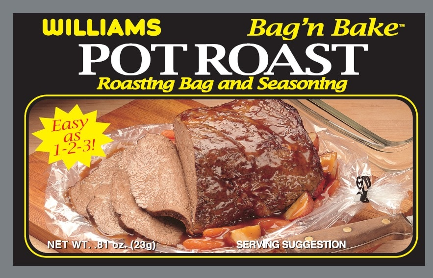 Williams Pot Roast Bag'n Bake-Front Panel300