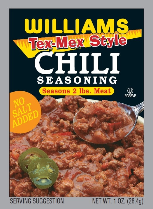 Williams Tex Mex Chili-Front Panel300