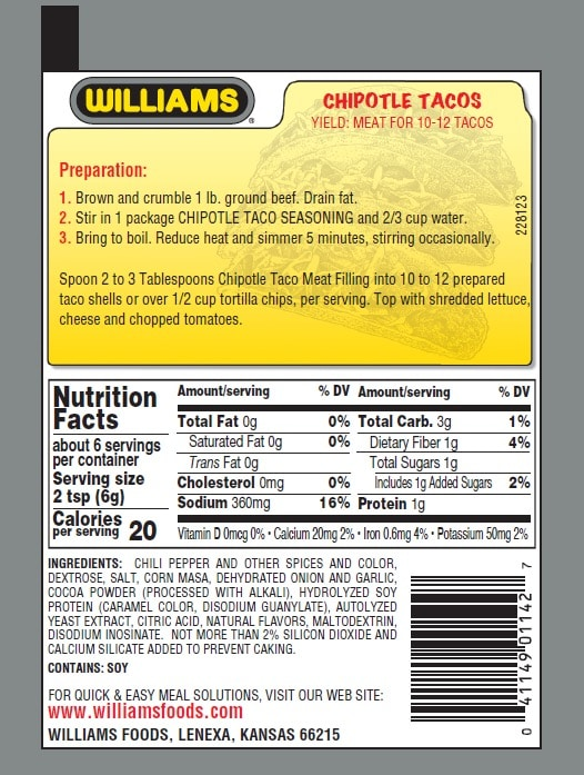 Williams Chipotle Taco-Back Panel300