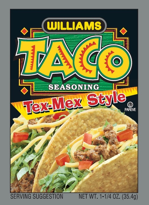 Williams Tex Mex Taco Front Panel300